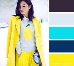 Amarillo azul aquamarina