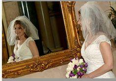 Wedding BUBBLE BRIDAL VEIL Short Wedding Veil Puffy Bridal