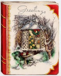 Retro Christmas Book Covers   Beautiful Christmas book cover.