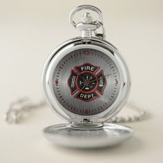 Fire Department Badge Red Pocket Watch diy firefighter, christmas gift for firefighter, firefighter stocking #companyofficer #culvercityfire #ff, back to school, aesthetic wallpaper, y2k fashion Firefighter Room, Firefighter Home Decor, Firefighter Workout, Firefighter Quotes, Volunteer Firefighter, Firefighters Wife, Personalized Pocket Watch, Watch Diy, Volunteer Gifts