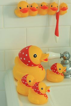 just arrived bath duck family!LOVE