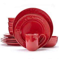 Food Network™ Fontina 16-pc. Dinnerware Set, Red