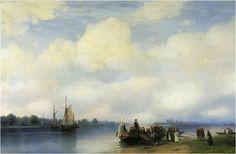 Arrival of Peter I on the Neva, 1853 Ivan Aivazovsky