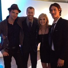 Haven cast of Season 4. Emily Rose is freaking lucky. Those are some attractive fucking men.