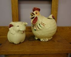 Shawnee pitchers awwww love these whimsical little guys!  I have a quaint little navy blue polkadot chicken pitcher  <3 it!