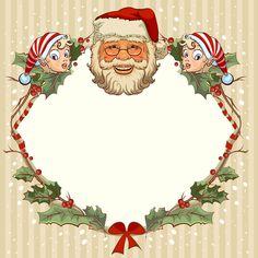 Fond -  Printable - Background - Frame - Christmas - Noël