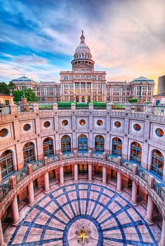 Texas Capitol Annex at Sunset HDR