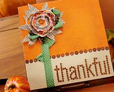 Show your gratitude in a fun way with this 'Thankful' canvas!