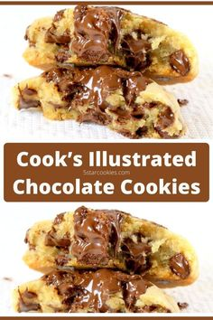 Perfect Chocolate Chip Cookies – Cook's Illustrated. If you are searching for perfect chocolate chip cookies this is the one. Easy to make, so tasty and full of chocolate. Do you need more...just make it happen. #chocolate Chocolate Chip Cookies Ingredients, Perfect Chocolate Chip Cookies, Chocolate Pies, Homemade Chocolate, Chocolate Recipes, Chocolate Covered, Cookie Recipes, Bar Recipes, Dessert Recipes