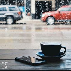 When you see rain coming it never hurts to head to a cafe for cover. See more: https://www.instagram.com/zestdesk_anywhere/ | Photo by kt_snipez