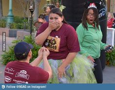 Not sure who was more shocked by this proposal.....haha...what is she wearing?!?