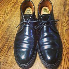 <今日の1足>Alden #1340  革靴って、年を重ねるごとにカッコ良くなりますよね。 いい感じの皺が入ったオールデンの1340。 オールデン、愛されている感が分かります!  http://doublesole.com/shoes/350 #alden #オールデン