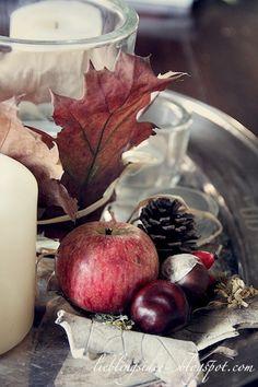 lieblingsidee: Natürliche Herbstdekoration; decoration with apples  http://lieblingsidee.blogspot.de/2012/10/naturliche-herbstdekoration.html