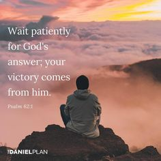 Are you waiting for God to act? If you're doing everything you need to do, then you can relax and wait with confidence. Biblical Quotes, Bible Quotes, Scriptures, Bible Verses, The Daniel Plan, Psalm 62, Faith Scripture, Bible Love, Answered Prayers