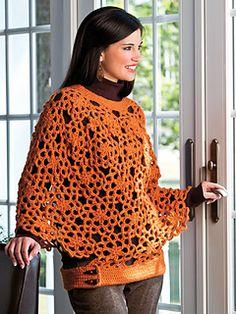 Motif Poncho--crochet pattern @ Ravelry