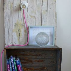 Beatrice and Filippo (www.les2chineurs.etsy.com) are two of our customers who have created this installation combining vintage and modern elements to create a minimal contrast of great effect. The impact of our pink wire used to enrich the old ceramic lampholder installed on a wood panel creates a play of colors irresistible! Did you see how simple it is to be creative? www.creative-cables.net #homedecor #home #ideas #design #lighting
