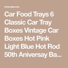 Items similar to 20 Pack Cardboard Classic Cars Boxes Party Retro Centerpieces Favors on Etsy Baby Shower Cards, Baby Shower Themes, Baby Shower Invitations, Baby Shower Gifts, Shower Ideas, Baby Shower Centerpieces, Baby Shower Decorations, Wedding Centerpieces, Car Food