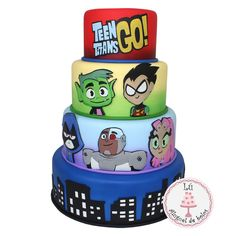 Bolo Fake, 5th Birthday, Birthday Cake, Birthday Parties, Paper Cake, Teen Titans Go, No Bake Cake, Cake Pops, Party Planning