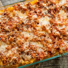 Baked Ziti - The addition of fresh basil is a nice change from other pasta dishes.