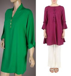 Solid colored kurta