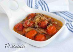 Tomates cherry en escabeche