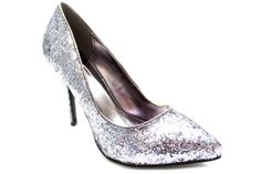 CLARKE Glitter High Heel Court Shoes PEWTER £29.99 New Years Eve 2013 Party