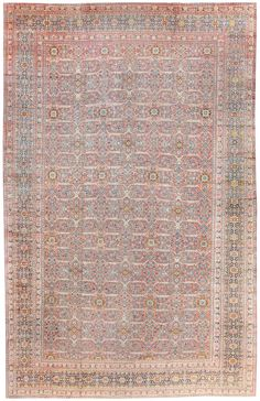 Antique Persian Tabriz Rug, Circa 1900 13 ft 8 in x 20 ft 2 in (4.17 m x 6.15 m)