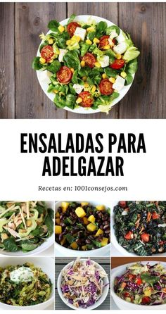 4 Ensaladas para bajar de peso Do not miss the most delicious salads recipes that will help you lose weight fast. Healthy Fats Foods, Healthy Low Carb Recipes, Healthy Salads, Healthy Eating, Dieta Paleo, Keto Fast Food, How To Eat Paleo, Recipes From Heaven, Salad Recipes