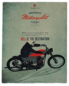 deluxe poster - tirage limité format 65/80 aristocratic motorcyclist© by lorenzo eroticolor in CAFE RACER N°57