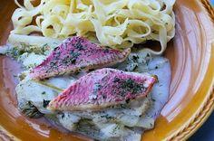 Recette de Filets de rouget à la fondue d'endives : la recette facile
