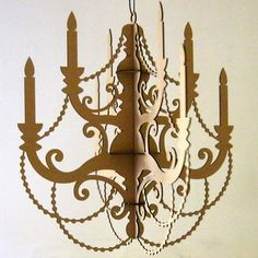 Classic Paper Chandelier by FabParlor on Etsy.