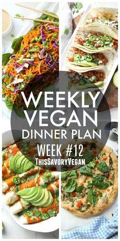 Weekly Vegan Dinner Plan #12