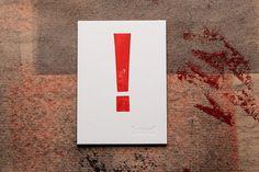 ! - postcard. Letterpress auf 600gramm Gmund Cotton.