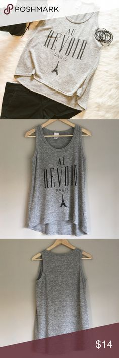 Freeze Knit Tank Top Large Freeze gray and black knit tank top. Large. This piece is in great condition. Looks good with black shorts!                                      ❌ No Trades ❌ No off Poshmark transactions ❤️ Bundle and save 📬 Fast shipper ❤️ I love reasonable offers Freeze Tops Tank Tops