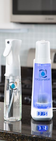 Force of Nature is an electrolyzed disinfectant that uses low-level energy to transform ordinary salt, water, and vinegar into a non-toxic cleaner—that's 10 times as effective as bleach.
