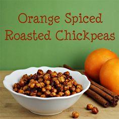 Orange Spiced Roasted Chickpeas