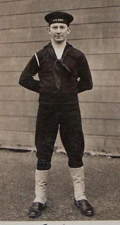 Sailor Uniforms for Sale | Vtg 1943 WWII US NAVY SAILOR In Uniform PHOTO POSTCARD Boot Training ...