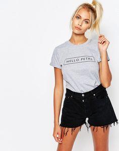Image 1 - Adolescent Clothing - Hello Petal - T-shirt masculin à imprimé
