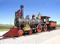 """The Union Pacific #119 was a 4-4-0 steam locomotive built by Rogers Locomotive and Machine Works of N.J. in 1868 which made history as one of the two locomotives (the other being the """"Jupiter"""") to meet at Promontory Summit commemorating the completion of the First Transcontinental Railroad."""