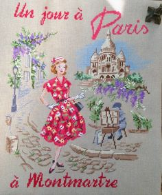 Один день на Монмартре / Un jour a Montmartre | J'aime la broderie française