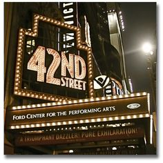 42nd Street Broadway, New York  #neon #signs #retro