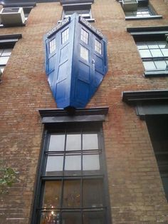 TARDIS.  That's the time machine Dr Who travels in for those who are not geeky enough to know. Dr Who?  Come on!
