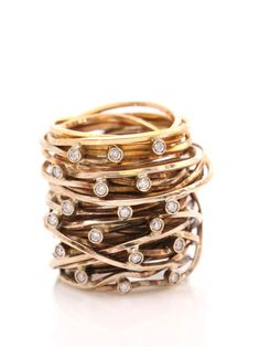 Pintaldi Maurizio gold diamond #ring stack