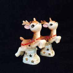 Vintage Christmas Reindeer Figurines