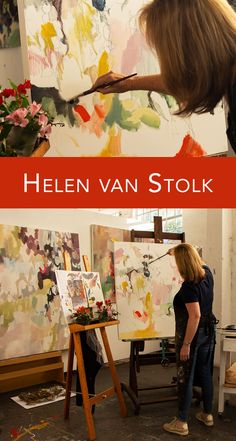 Bright colours, oil paint and flowers! Visit the studio of Helen van Stolk in this interview and film. Why Do We Cry, Artist Film, V&a Waterfront, Powerful Art, Piece Of Music, Abstract Painters, The V&a, Bright Colours, Your Paintings
