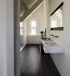 quick-step livyn flooring - pulse 'sand storm oak warm grey, Badkamer