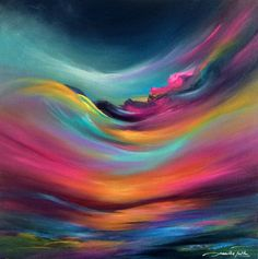 """Celestial Interlude Use colors for """"colors of the wind"""" Pocahontas themed painting Abstract Canvas, Canvas Art, Colorful Paintings, Art Paintings, Rainbow Painting, Irish Art, Acrylic Art, Painting Inspiration, Arrow Keys"""