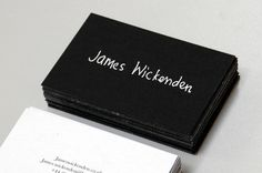 Use your handwriting on your business card    James Wickenden Business card by Jack Crossing, via Behance