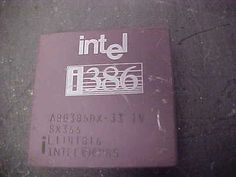 antique vintage intel cpu i386 a80386dx-33 1v sx366 l1141816 intel 85 loc#z97 - http://electronics.goshoppins.com/vintage-computing/antique-vintage-intel-cpu-i386-a80386dx-33-1v-sx366-l1141816-intel-85-locz97/