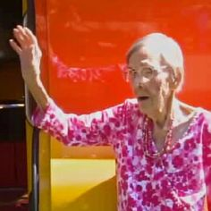 Pear Cantrell, 105, says bacon is the secret to a long, happy life gets ride in Oscar Mayer Weinermobile From Richland Springs, Texas May 2013 TV Station KRBC